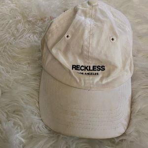 White young and reckless hat